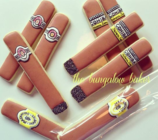 cigar cookies - These are too funny!!!!!!!!!!!!!!!!!!!!!