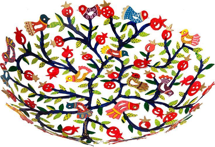 Fruit Bowl Small Laser Cut  birds  modern wedding gift 6th anniversary gift housewarming gift iron anniversary giftSKU BOS-1