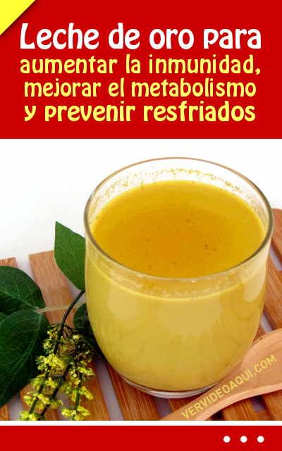Leche de oro para aumentar la inmunidad, mejorar el metabolismo y prevenir resfriados