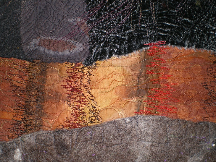 """Peat Layers"" detail by Alison King 