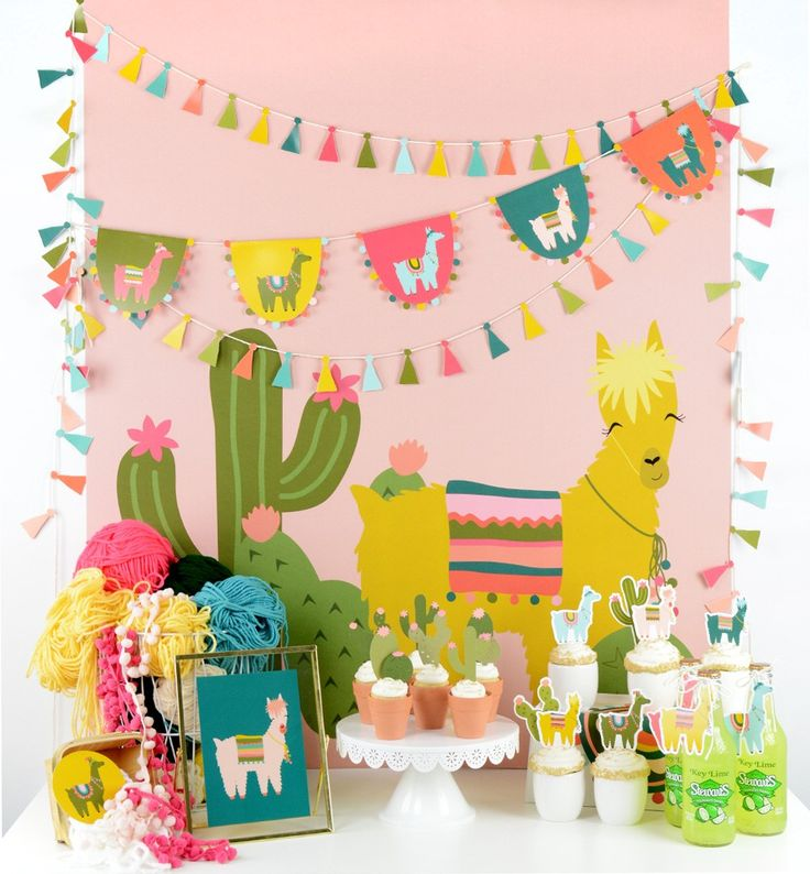 cactus and llama party