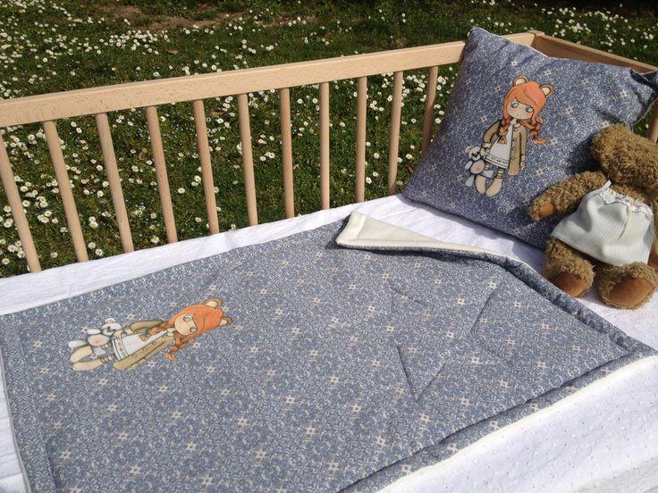 """Couverture matelassée coton cashmere """"CHLOE"""" : Puériculture par lilly-muffin"""