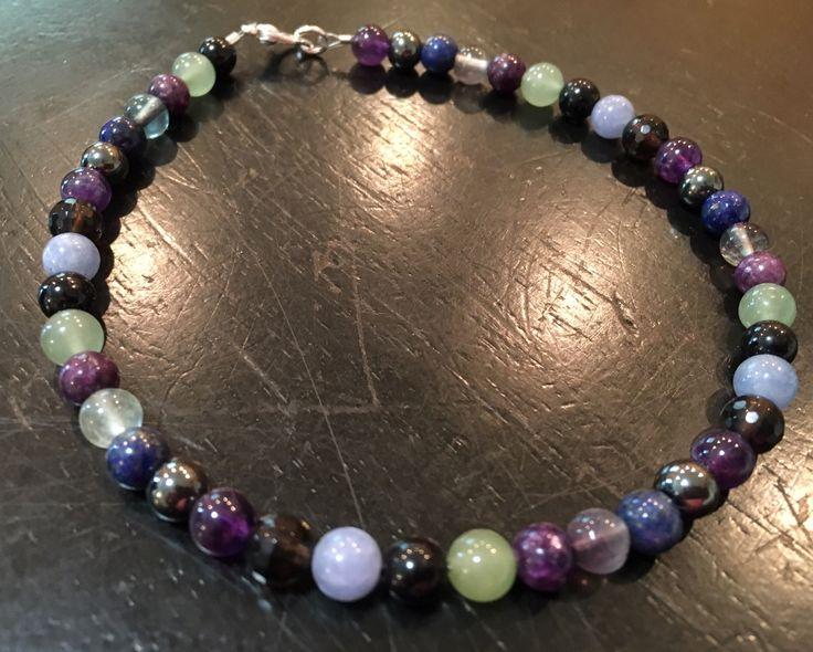 ADHD crystal bracelet (calming, mood disorder, focus, emotional balance, & empathy)