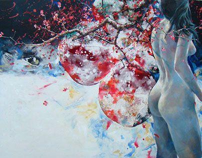 "Check out new work on my @Behance portfolio: ""붉은꽃-청춘 2015. 100*80 .혼합재료위에 아크릴, 유화"" http://be.net/gallery/51353869/-2015-10080-"