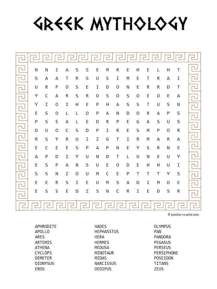 greek letter crossword clue mythology word search puzzles to print word 11353 | e6cb43ab61e091b19ea19875adcda2db