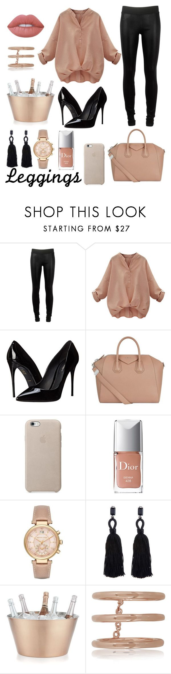 """Leggins it's perfect "" by alnecha ❤ liked on Polyvore featuring Goldsign, Dolce&Gabbana, Givenchy, Christian Dior, Michael Kors, Oscar de la Renta, Crate and Barrel, Arme De L'Amour, Lime Crime and Leggings"