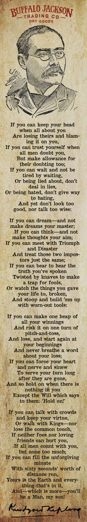 "Rudyard Kipling Quote for Men - ""If"" Poem"