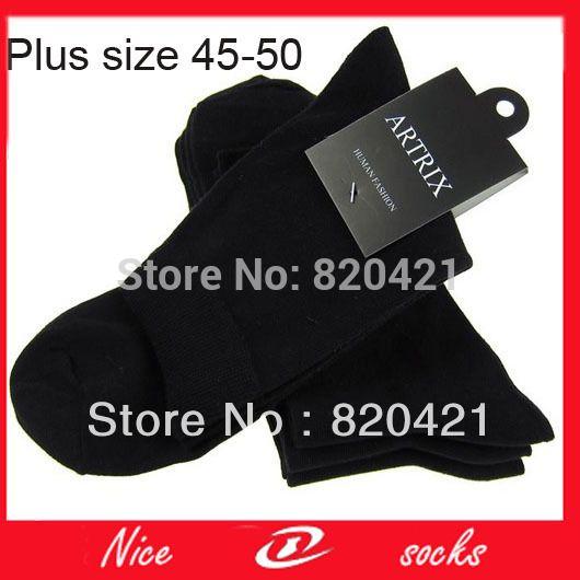 12 stuks = 6 pairs mode sok grote elite sokken business calcetines sokken mens jurk sok plus size grote maat 48, 49, 50 yard