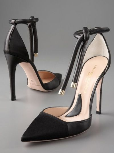 sexy ankle strap...These are higher than I would normally wear but they are gorgeous!