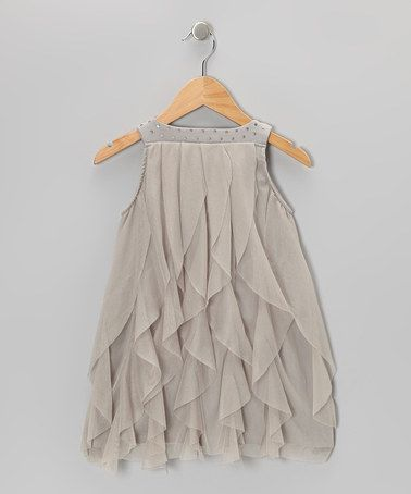 Take a look at this Silver Cascade Dress - Toddler by Paulinie on #zulily today! $21.53 s/o