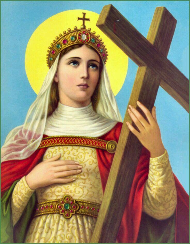 Santa Elena, madre de Constantino, se le reconoce por haber encontrado la Cruz en el que fue crucificado Jesús, Nuestro Señor.