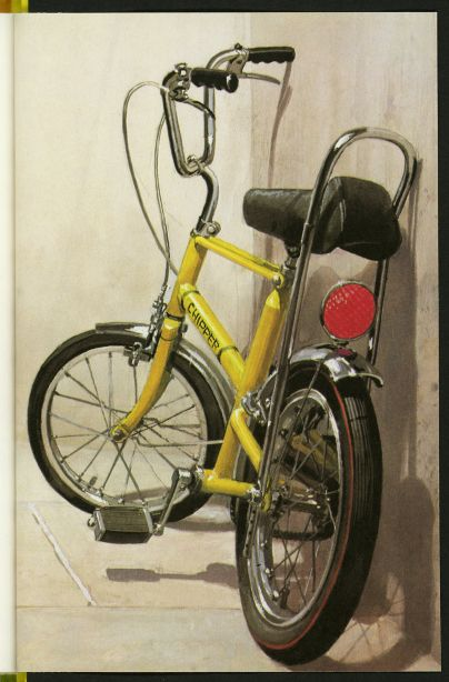 A Raleigh Chopper Author: Ethel Wingfield, Illustrator: Harry Wingfield (1972). 100 Years of Ladybird Books.