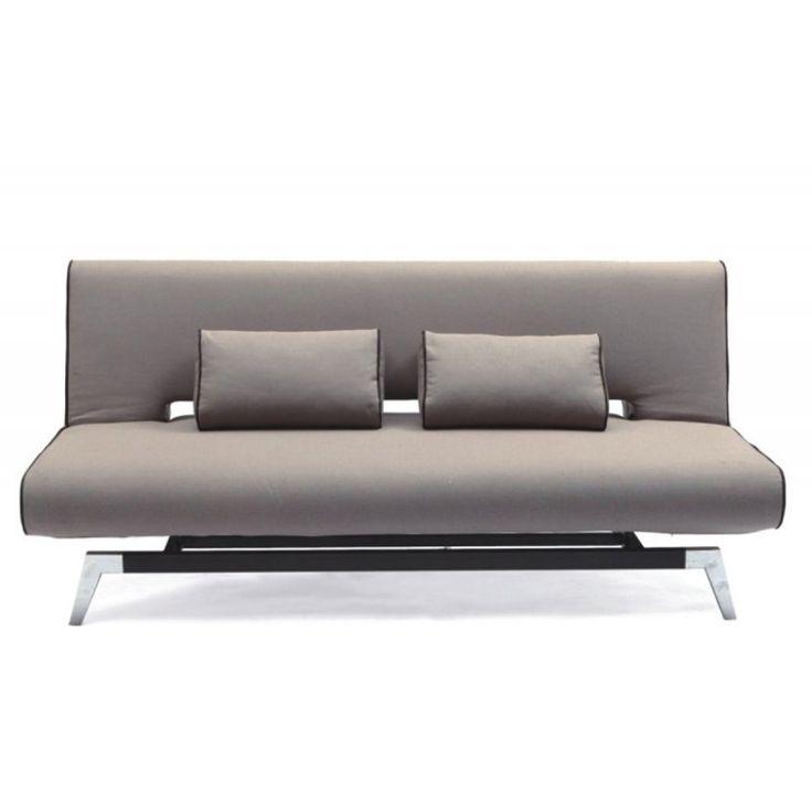 Καναπές-κρεβάτι Felix με ύφασμα γκρι 191x91x79