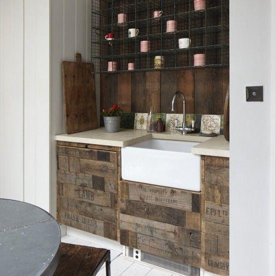 BT21 Vintage kitchen in pallet wall pallet kitchen  with pallet Kitchen Interior Design