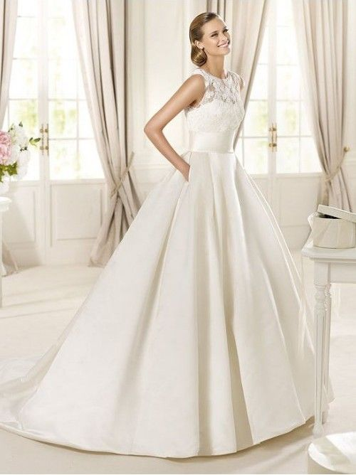 ballgown wedding dress illusion cutout sleeveless | Wedding Gowns Trend for 2013: Illusion Neckline | Fashion Wedding ...(This is similar to mine in 1998. Unable to find a picture.)