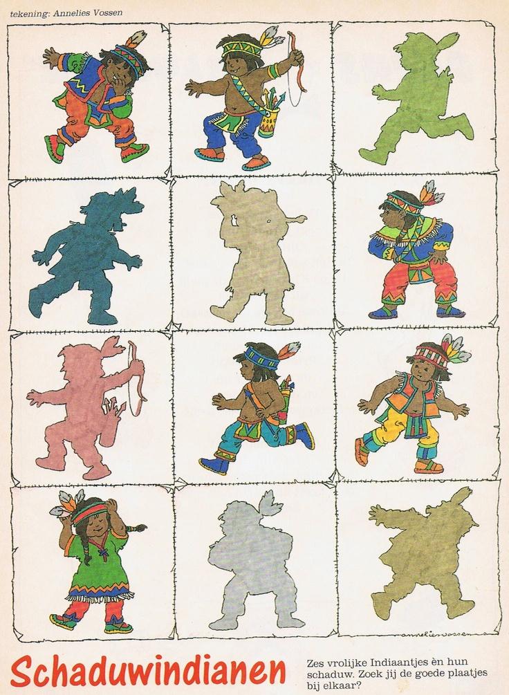 indianen met schaduw