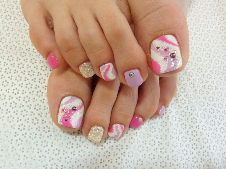 49 best nail designs with gems images on pinterest acrylics world latest fashion trends lifestyle news stylish pedicure nail art designs for summer prinsesfo Images