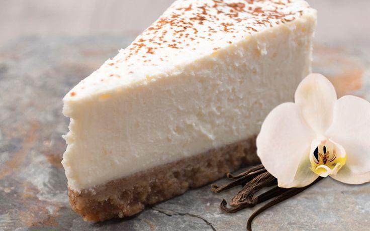 Here's to adding some flair to National Cheesecake Day – Vanilla Chai Cheesecake.