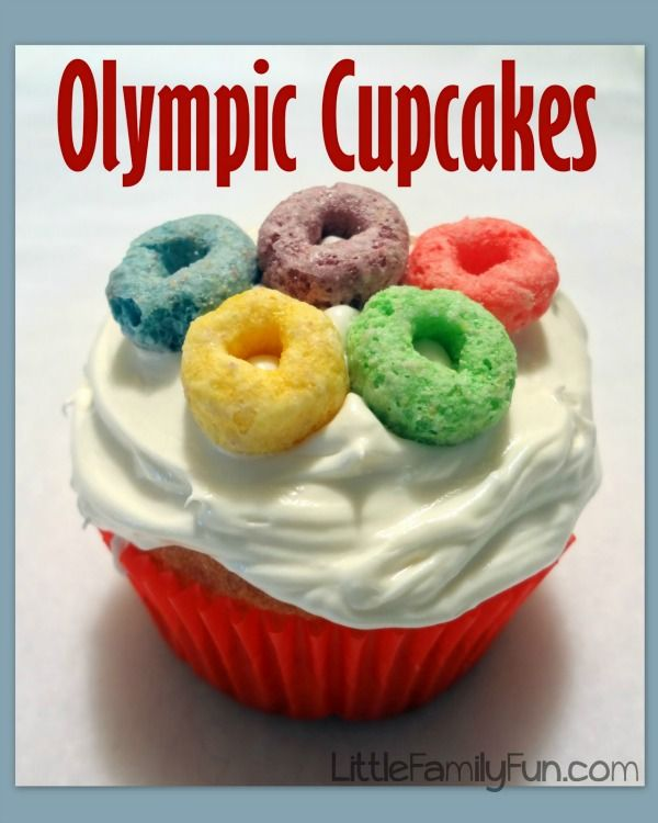 Olympics Cupcakes, 13 Creative Olympic Party Ideas via Pretty My Party