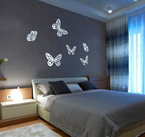 Dekoratívne nalepovacie zrkadlá v tvare motýľov