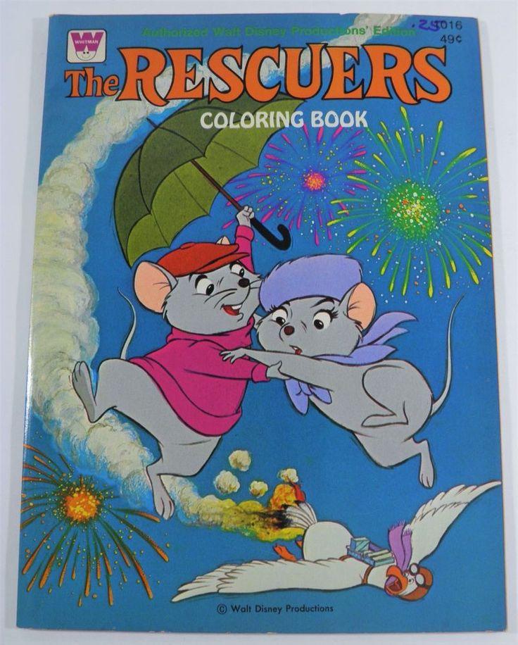 Vintage Disneys The Rescuers Coloring Book Whitman 1977 Unused