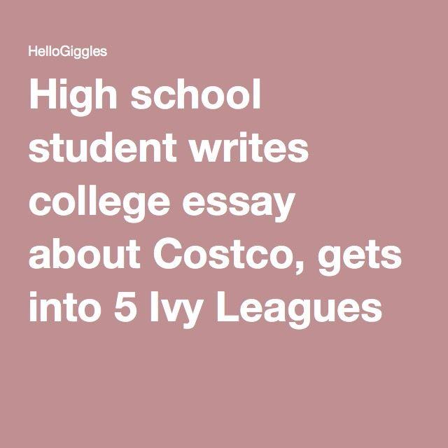 Buy college essay costco ivy league