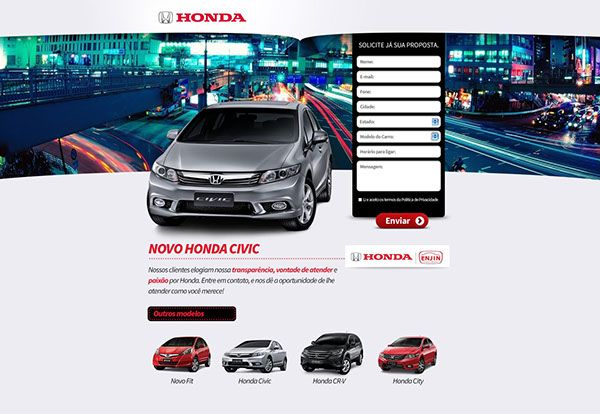 Honda Enjin - Landing Pages on Behance