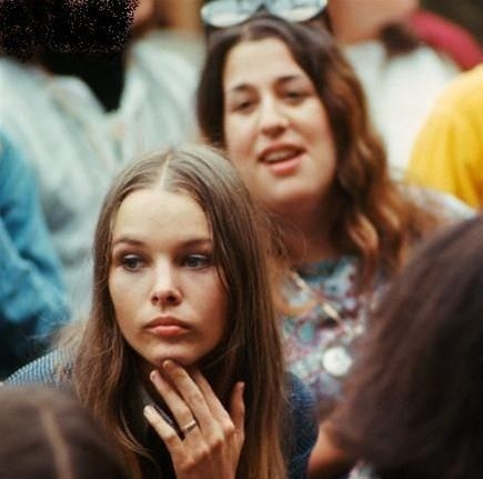 Michelle Phillips and Cass Elliot {Monterey Pop Festival 1967}