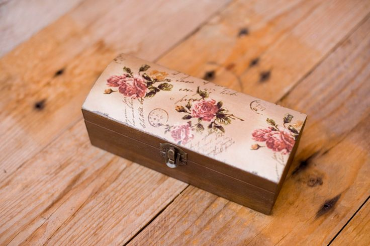 Handmade decorative decoupage wooden box by Gurdey on Etsy