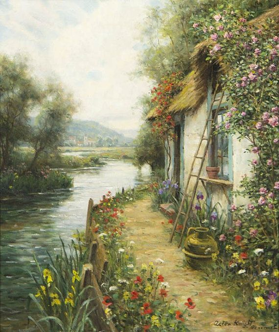 Along the River , Beaumont by Louis Aston Knight in PDF format.  All my patterns are created using a combination of computer and hand correction.