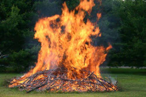 """Did you know that the term """"bonfire"""" comes for the Anglo Saxon term for how the British used to cremate their dead? They used to put the corpse on the """"Bone Fire""""."""