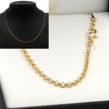 50cm Yellow Gold Belcher Chain Necklace - GN-B1