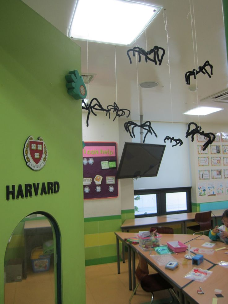 Halloween Classroom Decorations Make : Hanging spiders halloween classroom decoration my own