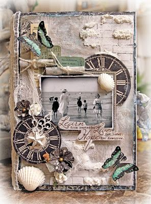 Altered Book Box Created with the Scraps Of Darkness~Laura's Wish Kit Find our gorgeous kits here: http://www.ScrapsofDarkness.com  Items from the Reneabouquets.com and Reneabouquets Etsy Shop that were used on this project:  Reneabouquets Tiny Treasures Patina Butterflies Dina Wakely Gesso Tim Holtz Weather Wood Ink Prima Sea Resin Starfish Prima Metal Clock Hands  Prima White Sand Texture Paste Delicate Beauty Lace Tim Holtz Crackle Paint Ranger Texture Paste