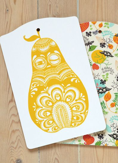 Image of Cuttingboard Folkloric pearCuttingboard Folklore, Minis Empire, Pears Minis, Folklore Pears, Fruit Inspired Surface Pattern, Girly Inspiration, Female Reference, Disguise Image, Surface Design