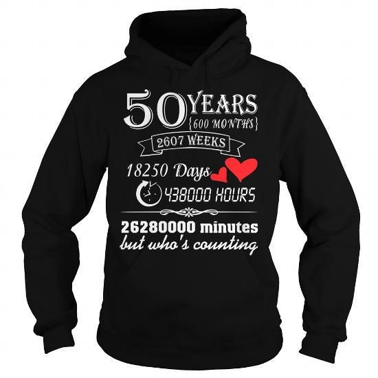 50 YEARS WEDDING ANNIVERSARY GIFT 50TH T SHIRT