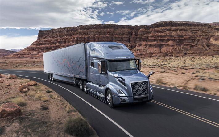 Descargar fondos de pantalla Volvo VNL serie de 2017, los nuevos camiones, transporte de carga de los conceptos, la entrega de bienes, Volvo