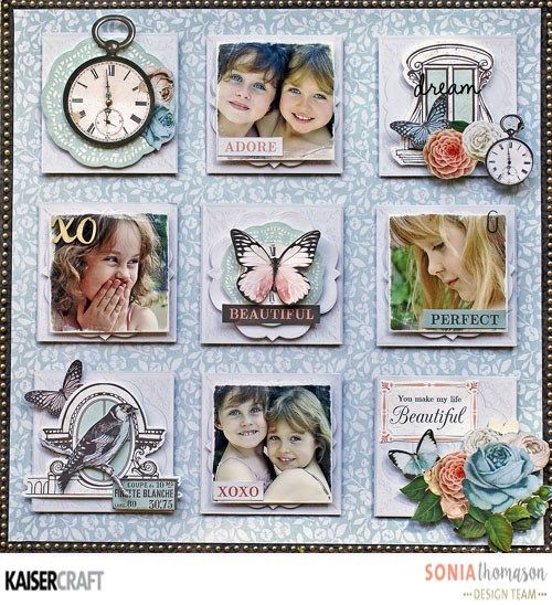 """""""Beautiful"""" Layout by Sonia Thomason Design Team member for Kaisercraft Official Blog learn more at kaisercraft.com.au using 'Ooh La La' collection (October 2016) - Wendy Schultz - Kids Layouts."""