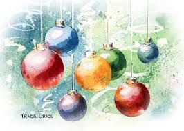 stores in nyc watercolour xmas bauble   Google Search