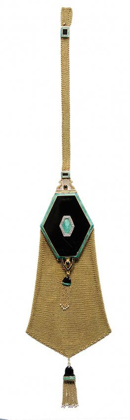 Art Deco 14 Kt. Gold Purse/Compact www.vintageclothin.com