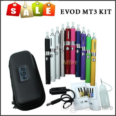 Cheap E Cigarettes EVOD MT3 Kit Evod Battery MT3 Atomizer Tank Vaporizer Evod Mt3 Clearomizer EGO Electronic Cigarette Zipper Case USB Cable Online with $9.2/Piece | DHgate