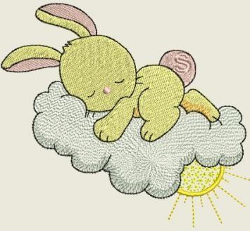 Sleeping in the sky Bunnies | Spookies Treasures