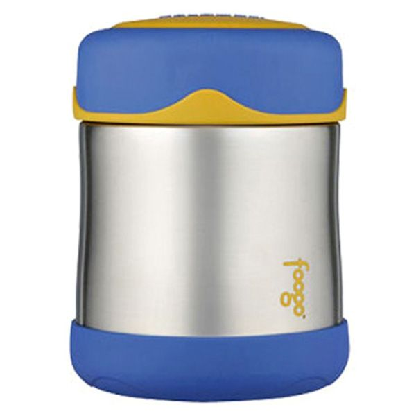 Foogo Insulated Food Container - Blue-This super cute food container is so handy and will keep your food insulated for hours. With a wide opening, it is easy to fill, eat from and clean. It is fantastic for when you are on the go or for the kids to take to school. #bpafree
