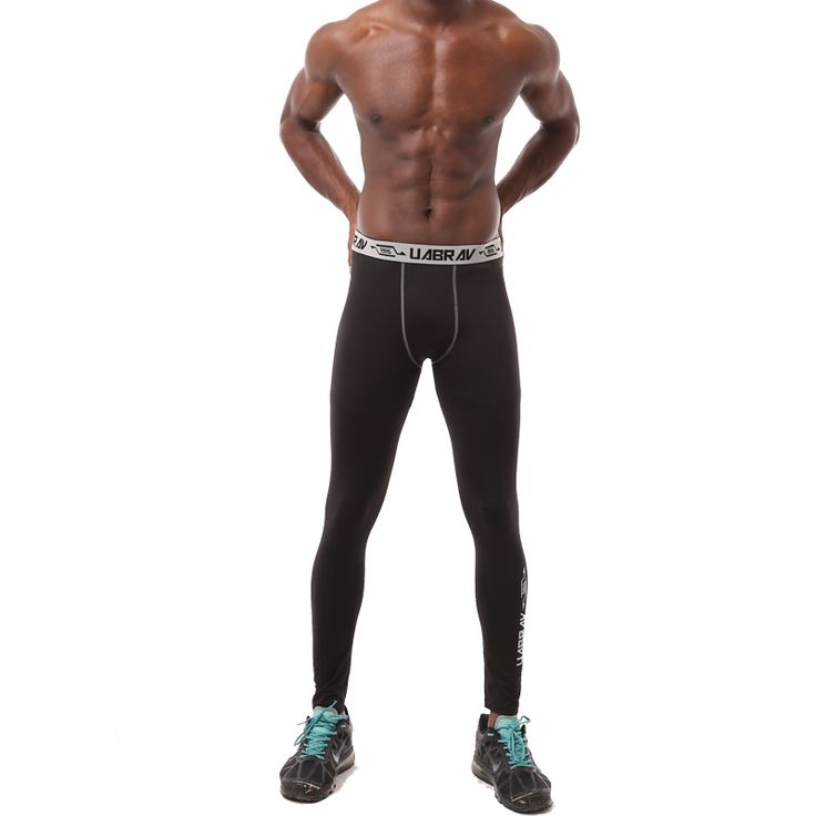 Men's basketball compression sports tights training bottoming stretch running fitness compression pants mallas hombre running #Affiliate