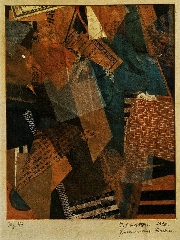 magictransistor:  Kurt Schwitters. Forms in Space. 1920.
