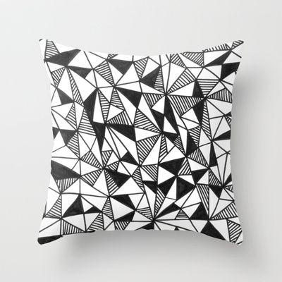 Geolustration 01 Throw Pillow by Laura Moreau - $20.00