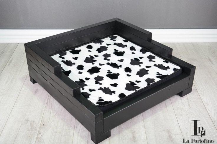 LD-4 50X80 cm Czarne SOFA LEGOWISKO dla PSA Kota - LA_PORTOFINO - Legowiska dla psów