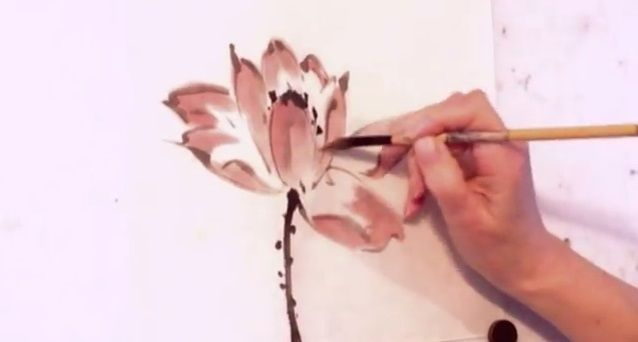 Come dipingere un fiore di loto – Video #Tutorial http://www.comefaremania.it/dipingere-fiore-loto-video-tutorial/ #pittura #comefare #fiorediloto