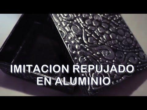 Cómo reciclar una caja de zapatos - falso repujado con papel de aluminio - YouTube