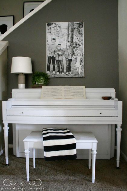 how to paint a piano: jones design company